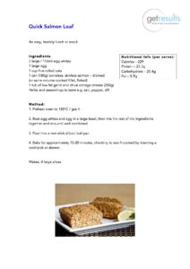 Quick Salmon Loaf healthy recipes