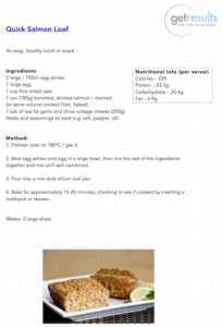 Quick Salmon Loaf - Healthy recipe