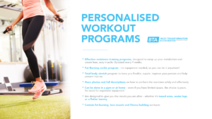 Personalised workout programs