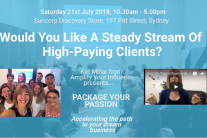 Package Your Passion: Workshop Saturday 21st July