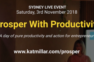 Prosper With Productivity Workshop